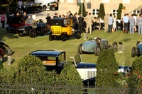 Bugatti T41 Royale Binder sn.41111 hiding behind the trees