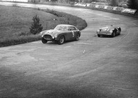 Carl Lohmander raced his 250 MM PF Berlinetta at the Eifelrennen in 1955, achieving a 9th place overall in the end. On the picture above it seems he fought with ...