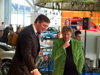 Spyker CEO Victor Müller and Dutch designer Jan des Bouvrie