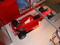 Aerial view of F1 car