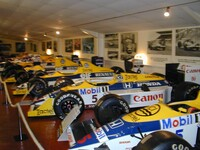 Part of the Williams F1 car display