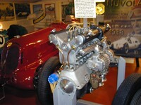Alfa Romeo twin supercharged 2.9 litre 8 cylinder engine