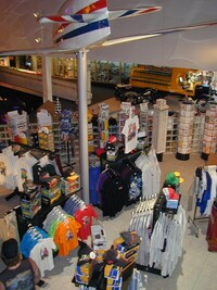 Part of the gift shop in foyer