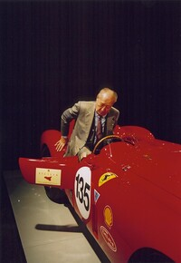 Jacques Swaters in his Ferrari 375 Plus s/n 0384AM