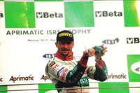 Vincenzo Sospiri celebrates his victory (JB Giesse Team Ferrari)