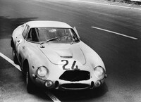 "Le Mans 24h 1965: ""Beurlys"" and Willy Mairesse finished 3rd with the Ferrari 275 GTB/C s/n 6885 that was entred by Ecurie Francorchamps. To cut the hole in the  ..."