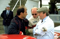 Emanuele Pirro together with Terry Hoyle who prepares the Ferrari 250 GTO for racing