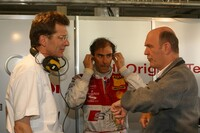 Ralf Jüttner, Emanuele Pirro and Head of Audi Motorsport Dr Wolfgang Ullrich (from left to right)